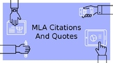 MLA Citations and Integrating Quotes