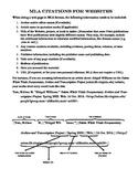 MLA Citations for Websites