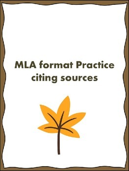MLA Citing Sources