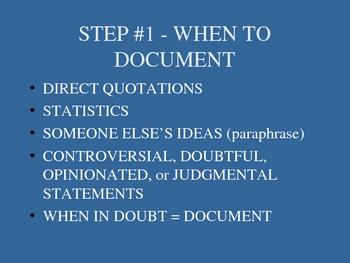 MLA Documentation Demo Quick PowerPoint