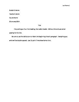 MLA Essay Format Tutorial