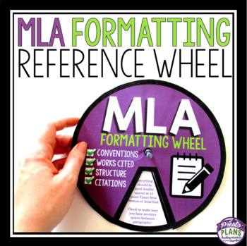 MLA FORMATTING WHEEL
