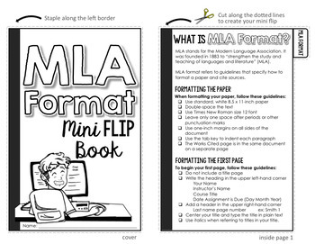 Mla Format 8th Edition Mini Flip Book By The Daring