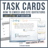 MLA Format (8th Edition) Task Cards - Print & Digital