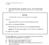 MLA Format Assessment