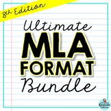 MLA Format Bundle: PowerPoint, Escape Room, Mini Flip Book, Source Cards