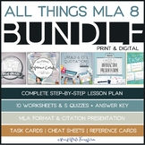 MLA Format Bundle: Worksheets, Presentation, Task Cards, Cheat Sheets, and MORE!