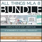 MLA Format Bundle: Worksheets, Presentation, Task Cards, Cheat Sheets, and MORE!