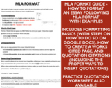 MLA Format Guide and Quotation Practice & Quiz