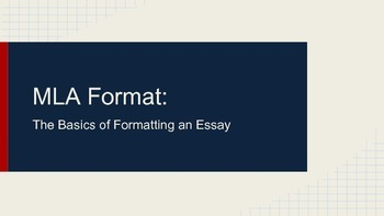 MLA Format Guidelines for Essays