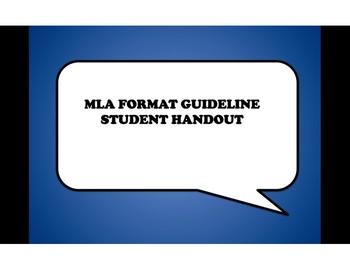 MLA Format Handout