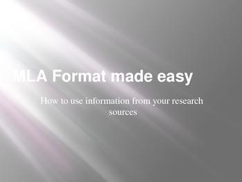 MLA Format Made Easy!