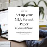 MLA Format Microsoft Word - Screenshots
