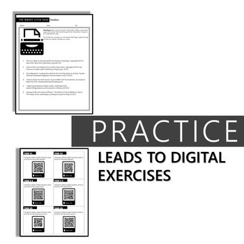 MLA FORMAT MINI-LESSON: EXAMPLES AND DIGITAL EXERCISES