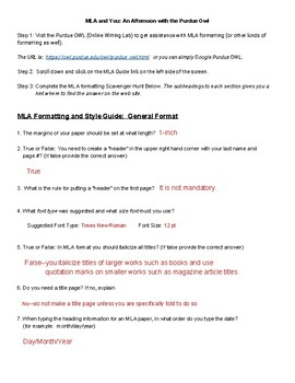 mla writing guidelines