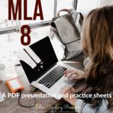 MLA Format PDF Presentation and Practice Sheets