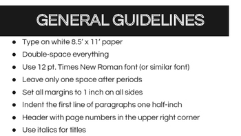 MLA Format PowerPoint (Ed 7)