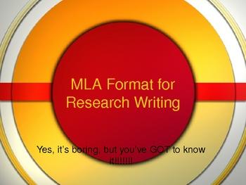 powerpoint mla format