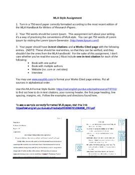 MLA Format Practice Paper