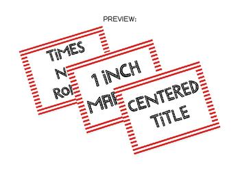 MLA Format Printable Poster or Handout