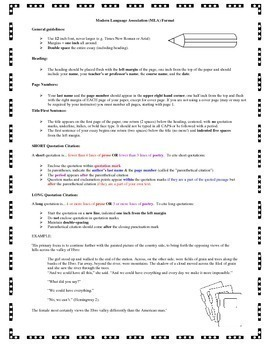 MLA Format Reference Guide