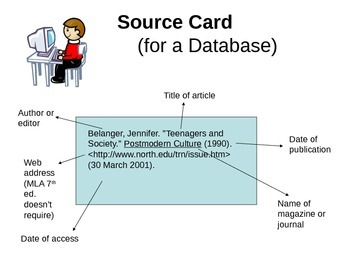 source card for research paper format Basic steps to the research process 10 include the source's number on the card sample note card: where to go from here.