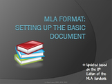 MLA Format Lesson #1:  Setting Up a Basic Document