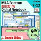 MLA Format Slideshow, Cheat Sheet, and Examples