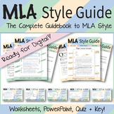 MLA Format Style Guide | Instructional Packet, Worksheets, PPTX Presentation