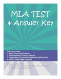 MLA Format Test with Answer Key (and Explanations)