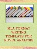 MLA Format Writing Template for Novel Analysis