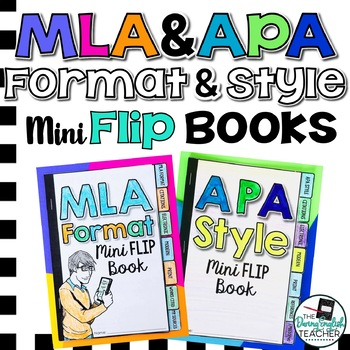 MLA Format and APA Style Student Reference Mini Flip Books