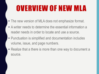 MLA Format and Guidelines for Papers