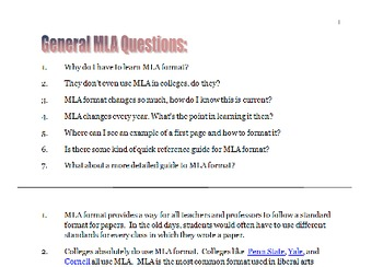 mla format version 7 frequently asked questions by stephen lenhardt