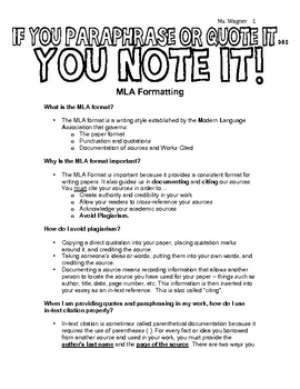MLA Formatting Guide