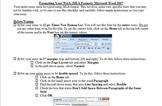 MLA Formatting Instructions / Checklist for Essays - Microsoft Word 2007