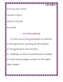 MLA Formatting Poster