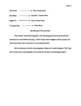 MLA Formatting Sample Paper for Microsoft Word
