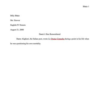MLA Formatting a Research Paper