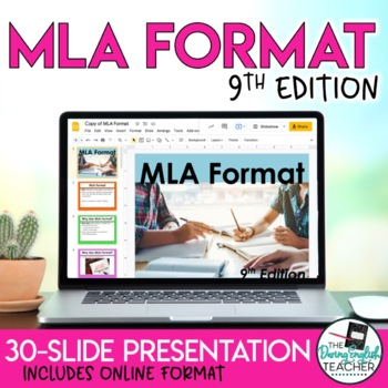 mla format and citation 8th edition powerpoint presentation tpt