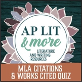 MLA Citations and Works Cited Quiz