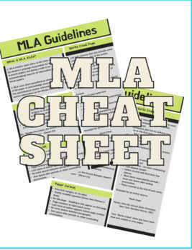 MLA Guideline Cheat Sheet