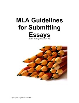 MLA Guidelines for Submitting Class Essays