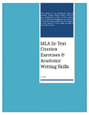 MLA In-Text Citation Exercises & Academic Writing Skills