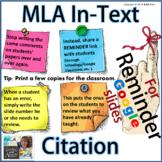 MLA In-Text Citation | Reminder for Google Slides