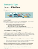MLA In-Text Citation Tip Guide