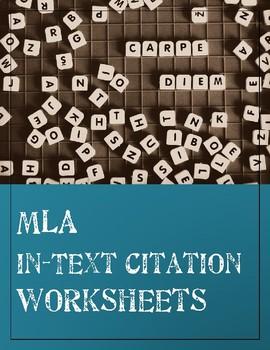 MLA In-Text Citation Worksheets