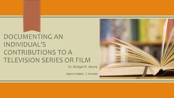 MLA 8th ed. Individual Artist's Contributions Citation