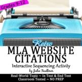 MLA Internal & External Website Citations: Interactive, Human Puzzle Activity