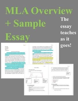 MLA Format Overview Handout (Sample Essay Included)